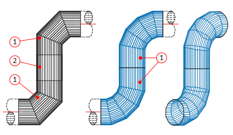 For a pipe task, the PC Designer unfolding program can be used to design a better flow with smaller number of pipe components. 